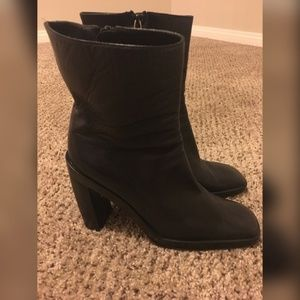 GUCCI BLACK LEATHER BOOTS AUTHENTIC SIZE 8